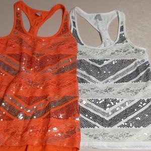 Set of Two Sequins Tank Tops